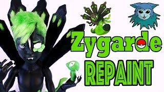 Tutorial: Repaint Zygarde Pokémon Collab Deuce Gorgon Ooak custom doll