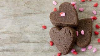 видео Шоколадное печенье ко Дню святого Валентина