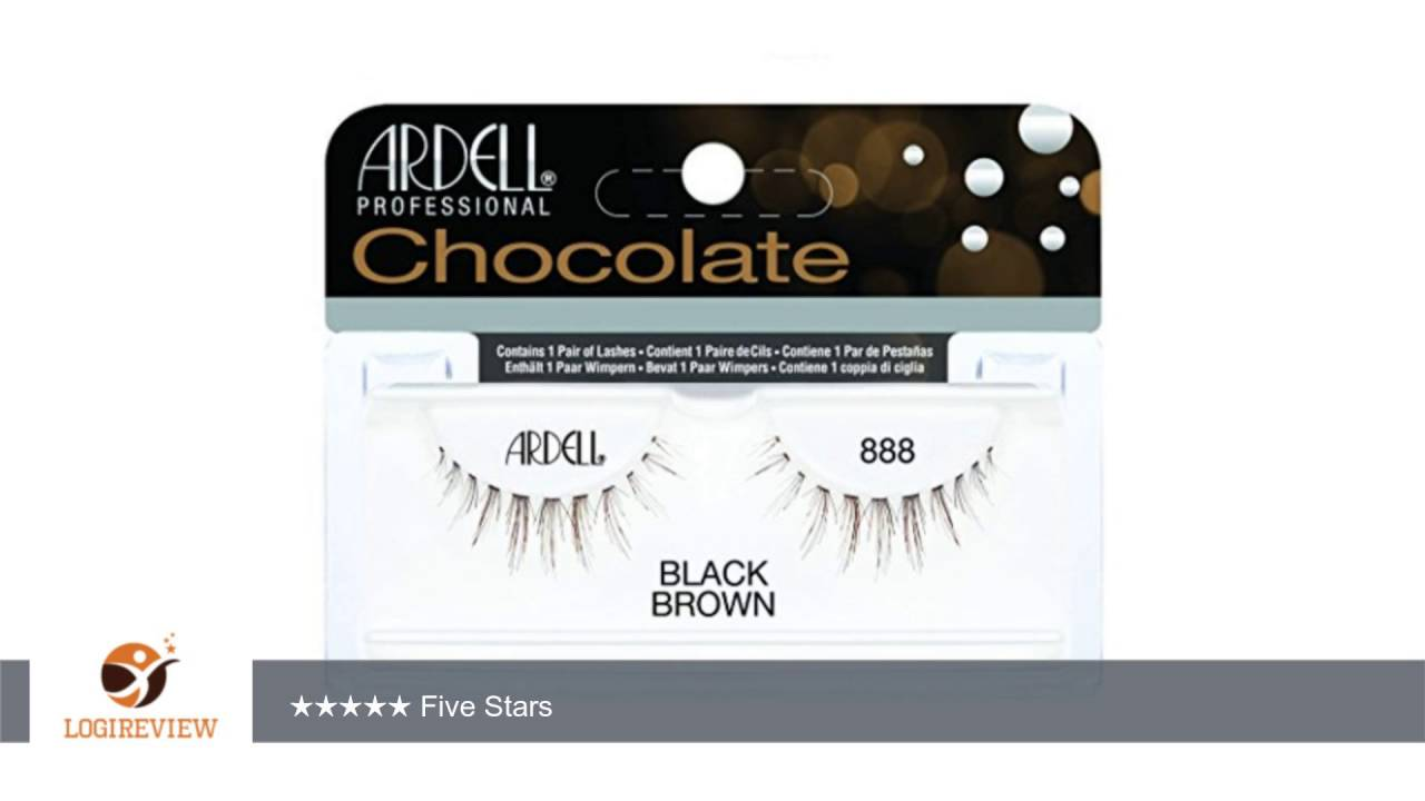 2eecb9192db Ardell Chocolate 888, Black/Brown   Review/Test - YouTube