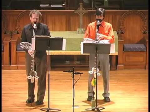 Sqwonk - bass clarinet duo - Toccata and Fugue