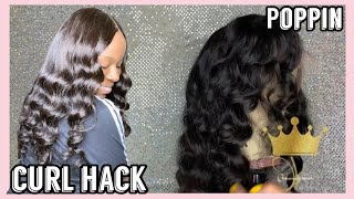 How To STYLE Your WIG Using FLEXI RODS   #Wighacks   WIG TUTORIAL
