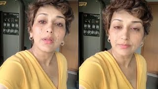 LIVE   Sonali Bendre Breaks Down In Tears On Live Video Chat Talking About d T0UGH Time In D World