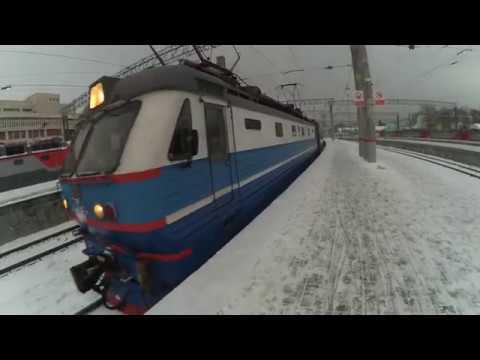 Электровоз ЧС2К-853 с пассажирским поездом №119 Саранск - Москва