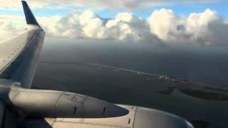 Continental 737-700 Landing at Guam 1080p HD
