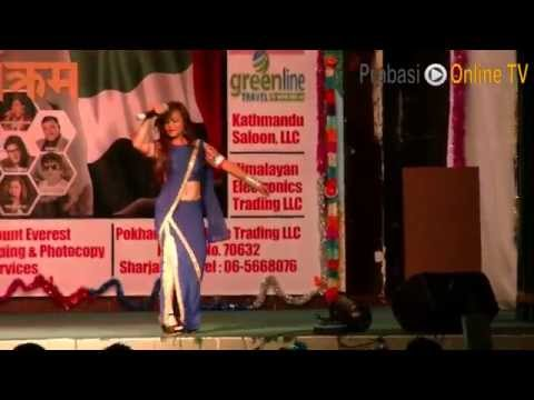 samjhana lamichhane performing in Abu Dhabi