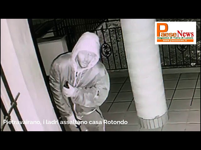 i ladri assaltano villa rotondo a Pietravairano
