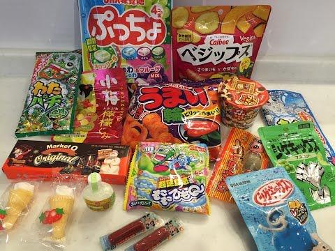 experimentando doces do Japao