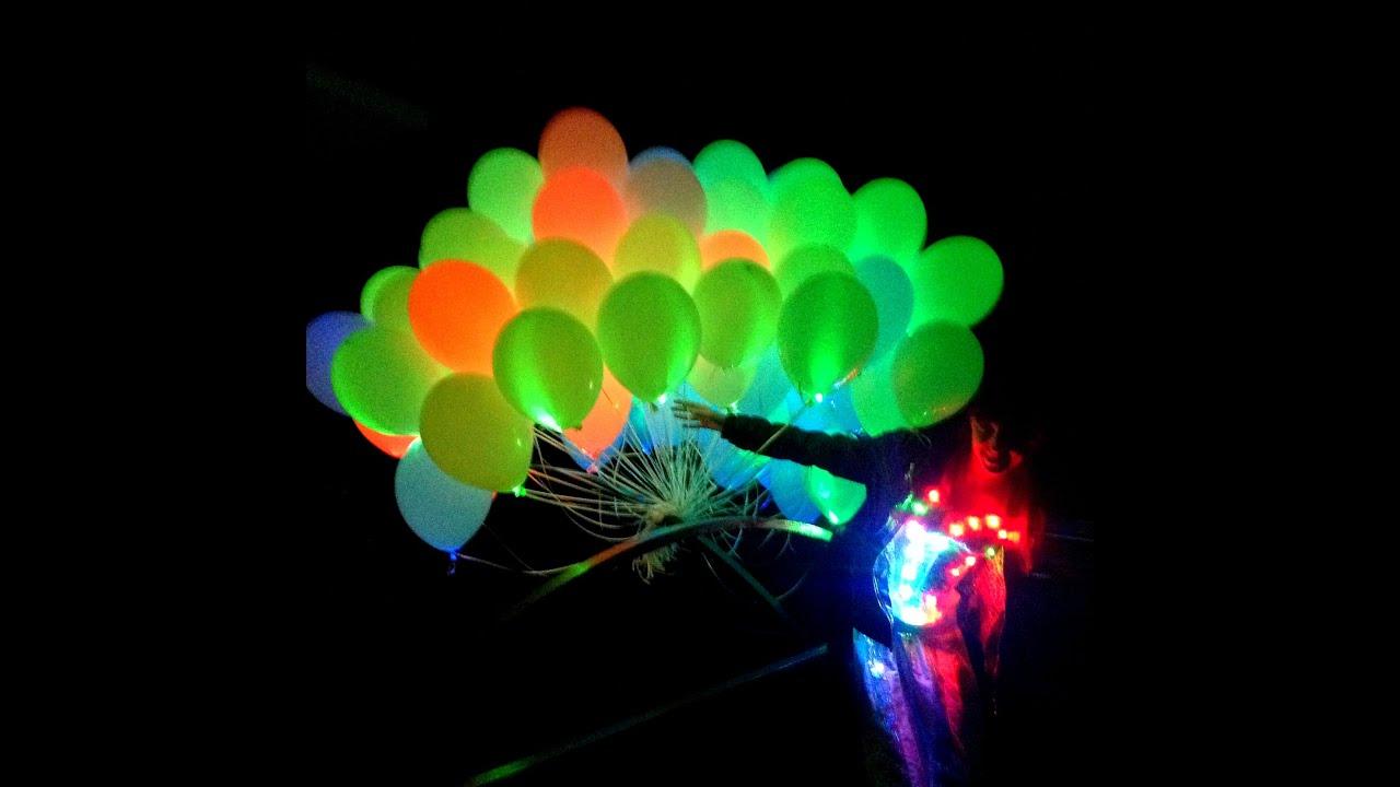 Светящиеся воздушные шары на свадьбу - YouTube