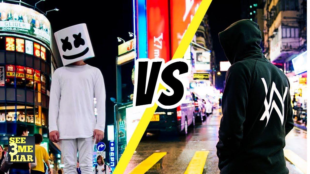 New Music Showdown Alan Walker Vs Marshmello Youtube