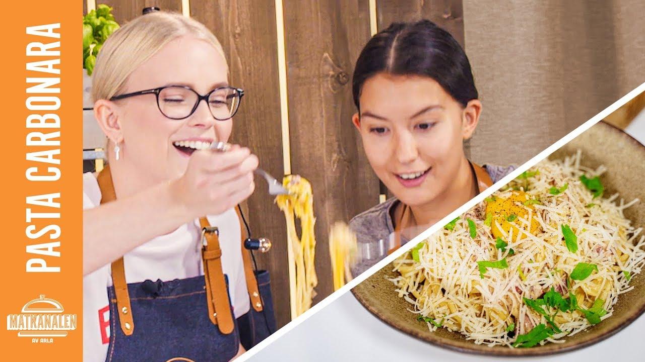 pasta carbonara syrad grädde