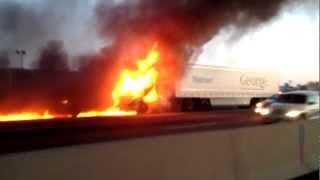 Truck Fire on HWY 401