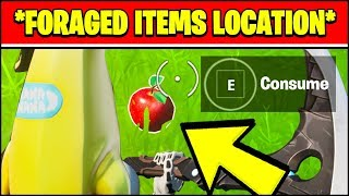 CONSUME FORAGED ITEMS - FORAGED ITEMS LOCATIONS (Fortnite Chapter 2 Week 5)