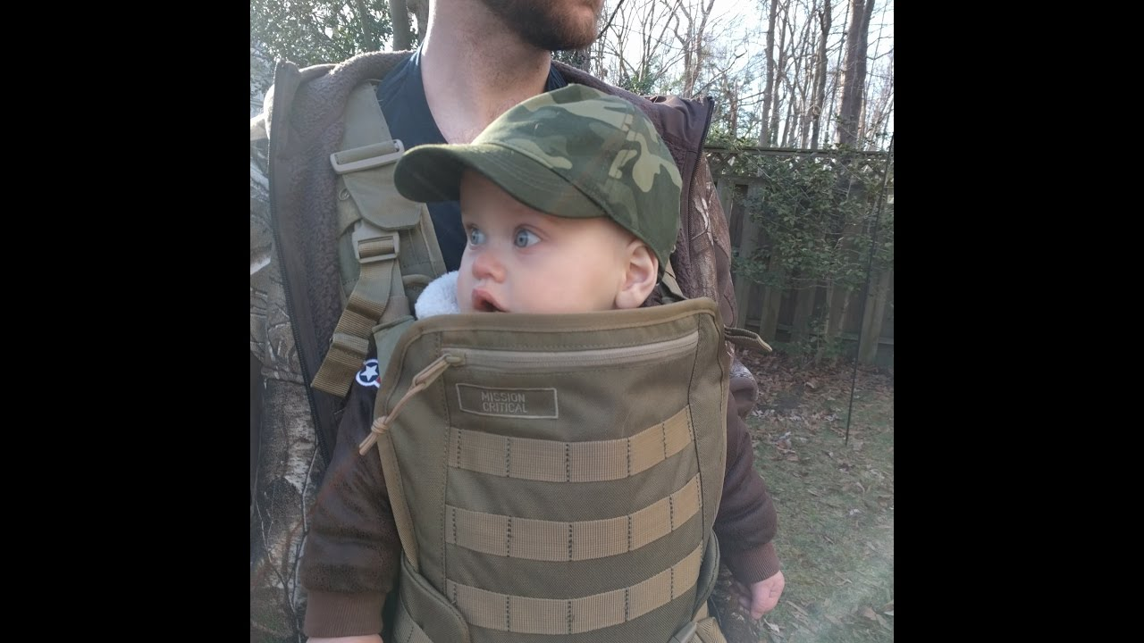 Mission critical tactical baby carrier review youtube for Daddy carrier