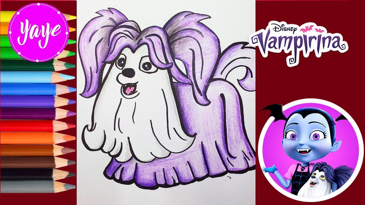Vampirina-Cómo Dibujar Y Colorear A Wolfie -dibujos De