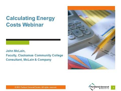 Calculating Energy Costs Webinar, Feb. 3, 2016