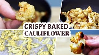 Vegan Crispy Baked Cauliflower Recipe (w/ Vegan Honey Garlic Variation) | Movie Snacks!