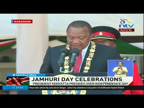 President Uhuru Kenyatta speech during Jamhuri day celebration at Kasarani stadium