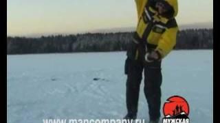 Ловля судака зимой на водохранилище.