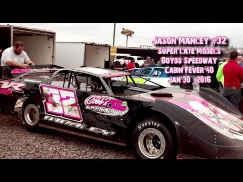 Jason Manley #32 In Car @ Cabin Fever HOT LAPS Jan 30 , 2016