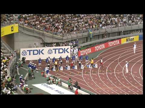 Men's 100m semi-finals - Osaka 2007 - 50 fps