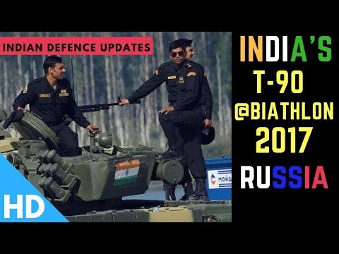 Indian Army's T-90 Massive Performance in Tank Biathlon Russia 2017