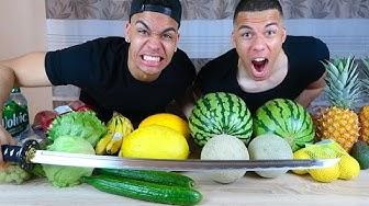 FRUIT NINJA IN REAL LIFE !!! (GEFÄHRLICH) | Kelvin und Marvin