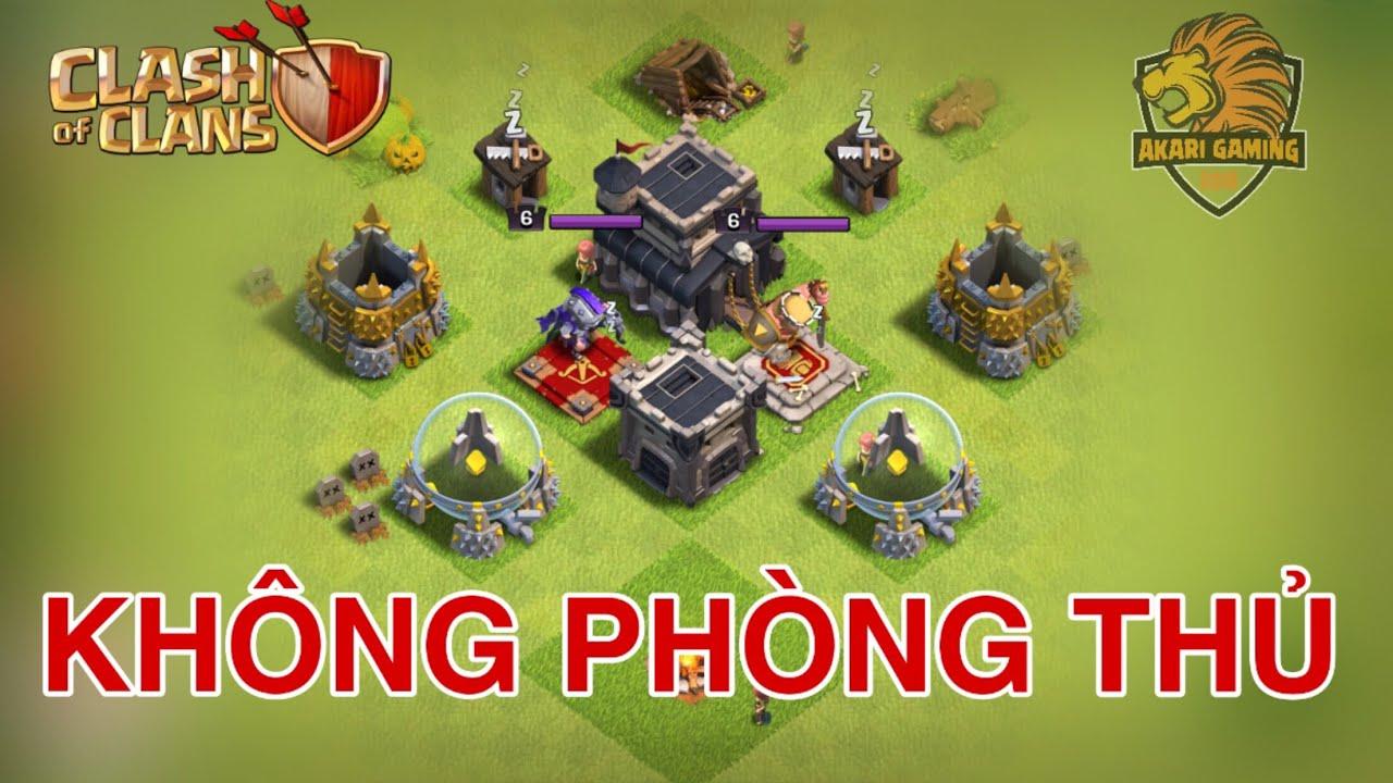 NGÔI LÀNG BỎ HOANG KHÔNG PHÒNG THỦ KỲ LẠ NHẤT Clash of clans | Akari Gaming