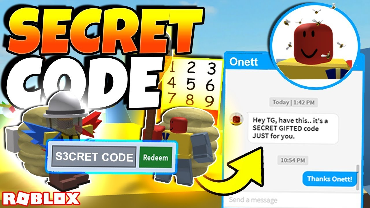 Onett Messaged Me And Gave Me This Secret Gifted Code Roblox