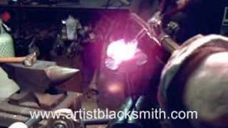 Blacksmithing Forging Steel Rose