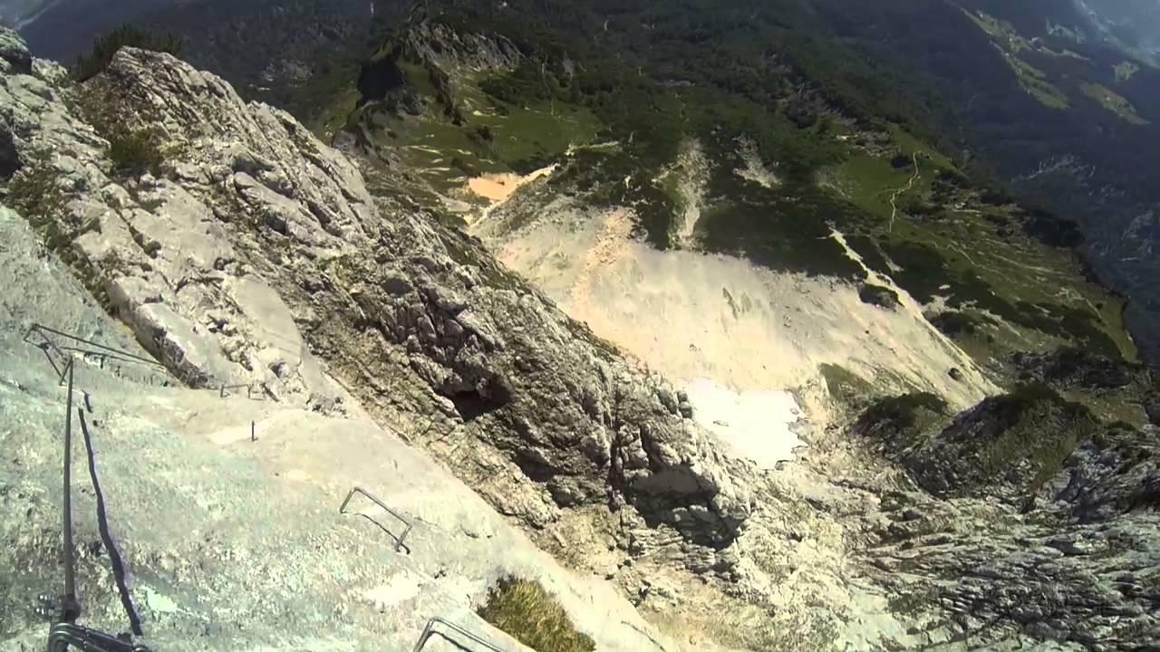 Klettersteig Untersberg : Untersberg berchtesgadener hochthron klettersteig youtube