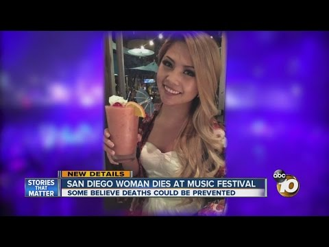 San Diego woman dies at music festival