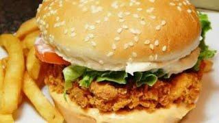 Delecious/y Zinger Burger/Home Make easily