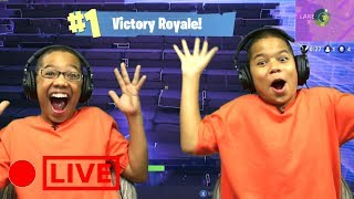 KIDS PLAY FORTNITE GET FIRST DUO VICTORY ROYALE (FR) FORTNITE BATTLE ROYALE