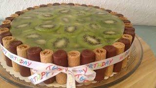 Kiwi Vanille Schmand Kuchen, unbeschreiblich lecker und charmant zubereitet