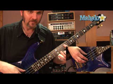 how to play an f sharp note on bass guitar