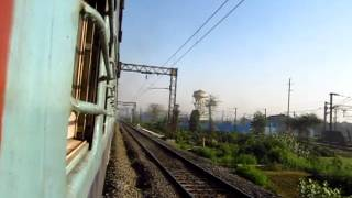 Indian Railways: On an Alco Mission-part-2 : Hool Express departing Bandel...