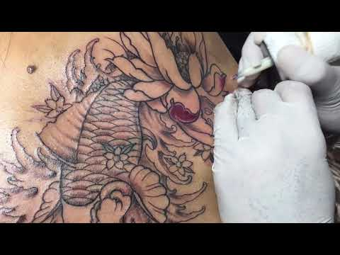 Koi Fish Tattoo Full Color