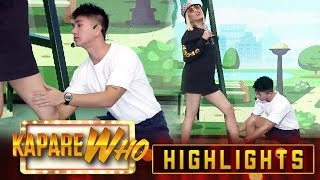 Hahstag Nikko puts a lotion on Vice's legs | It's Showtime KapareWho
