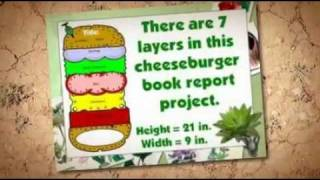 This is a example of a sandwich book report created by a