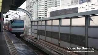 JR東日本中央線快速E233系0番台H53編成前面展望東京-中野 JR East Chūō Line (Rapid)