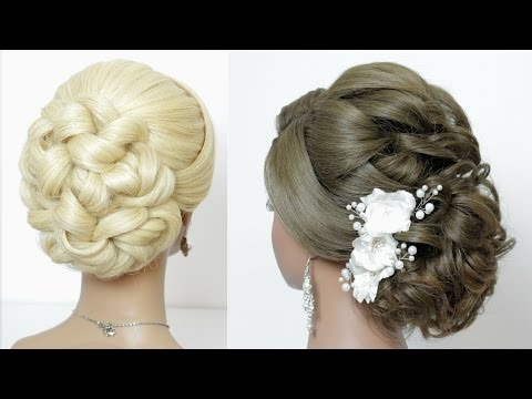 2 wedding hairstyles. Updos for long medium hair tutorial