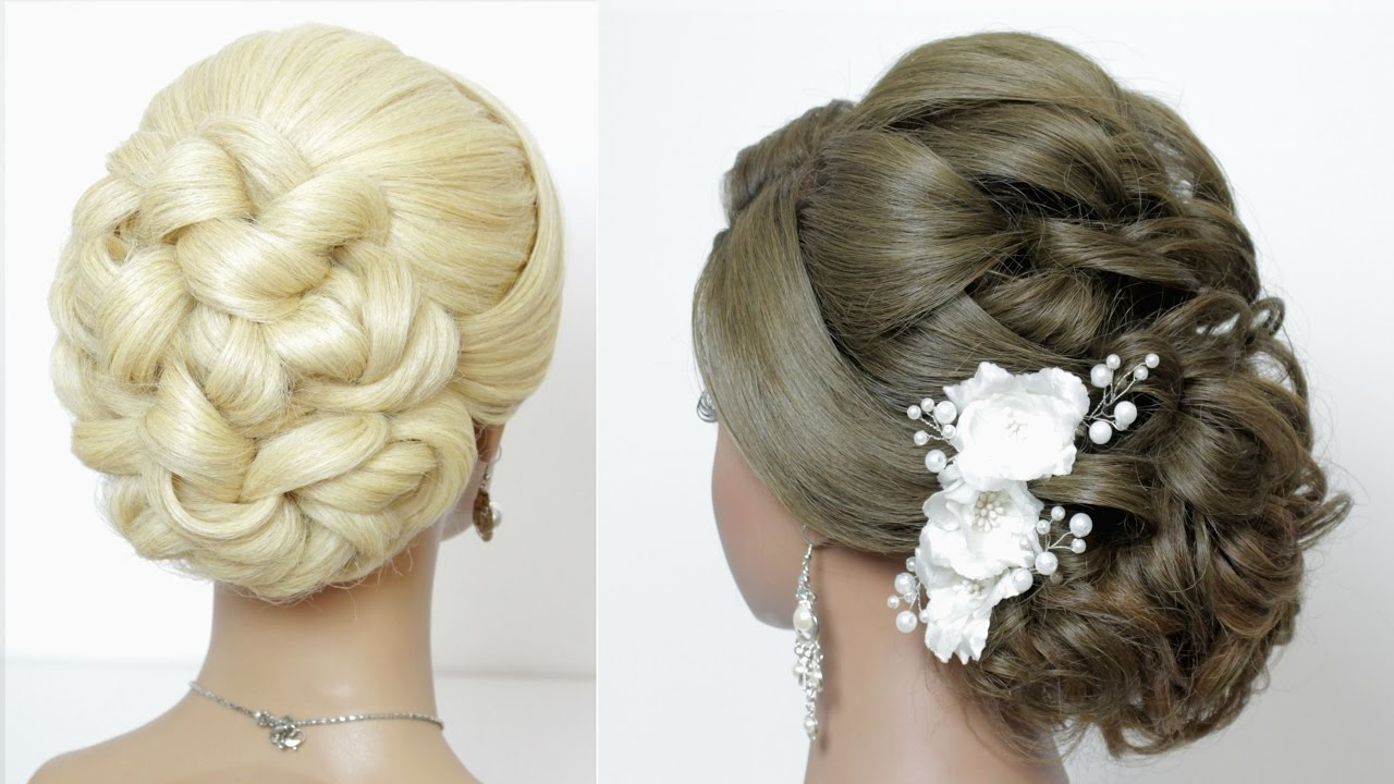 Hair Style Up For Wedding: 2 Wedding Hairstyles For Long Hair Tutorial. Bridal Updos