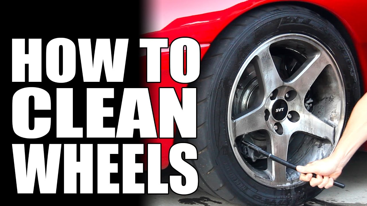 how to get car rims clean