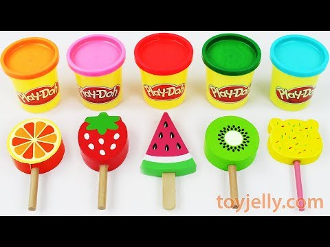 Toy Ice Cream Play Doh Popsicles Learn Colors for Babies Toddlers Preschoolers Kinder Sursrise Eggs