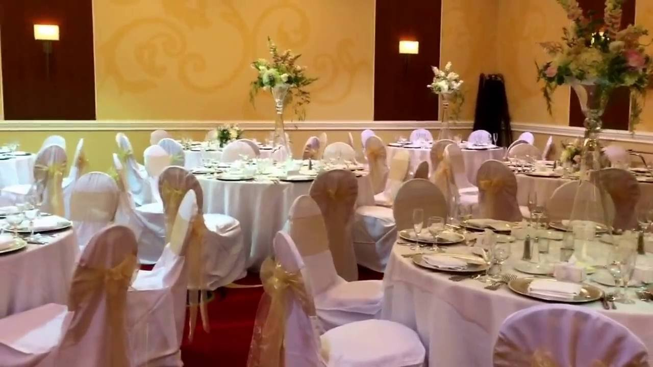 White Blush and Champagne Wedding Reception at Cleveland Marriott ...