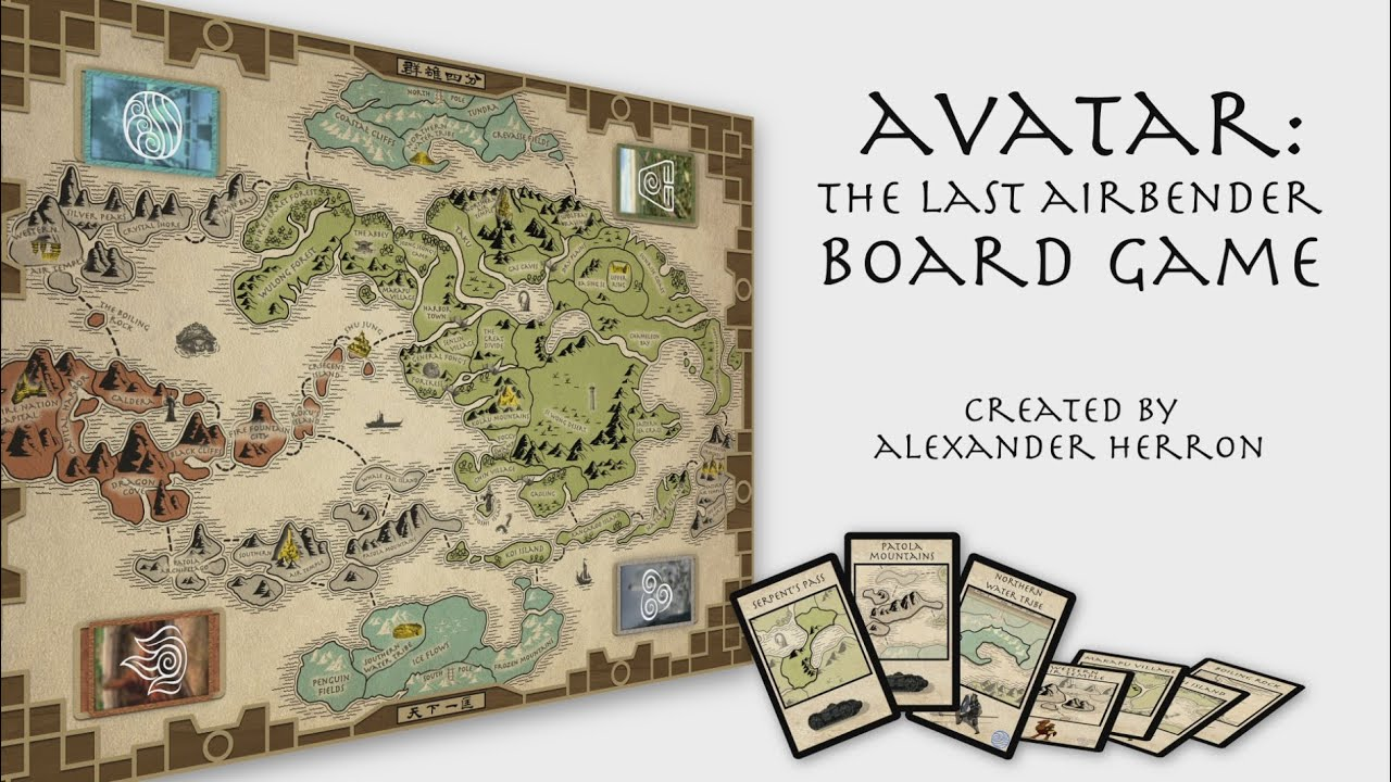 Avatar The Last Airbender Board Game YouTube - Avatar the last airbender us map