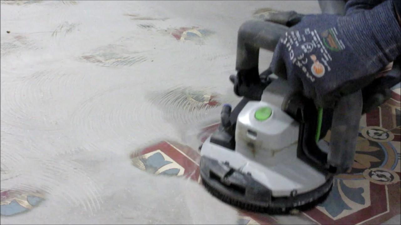 Spachtelmasse Von Zementfliesen Entfernen YouTube - Fliesen zement entfernen