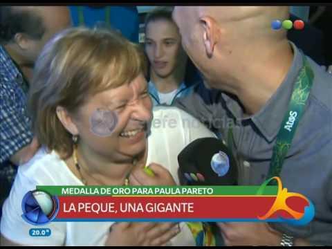 Paula Pareto, medalla de oro – Telefe Noticias