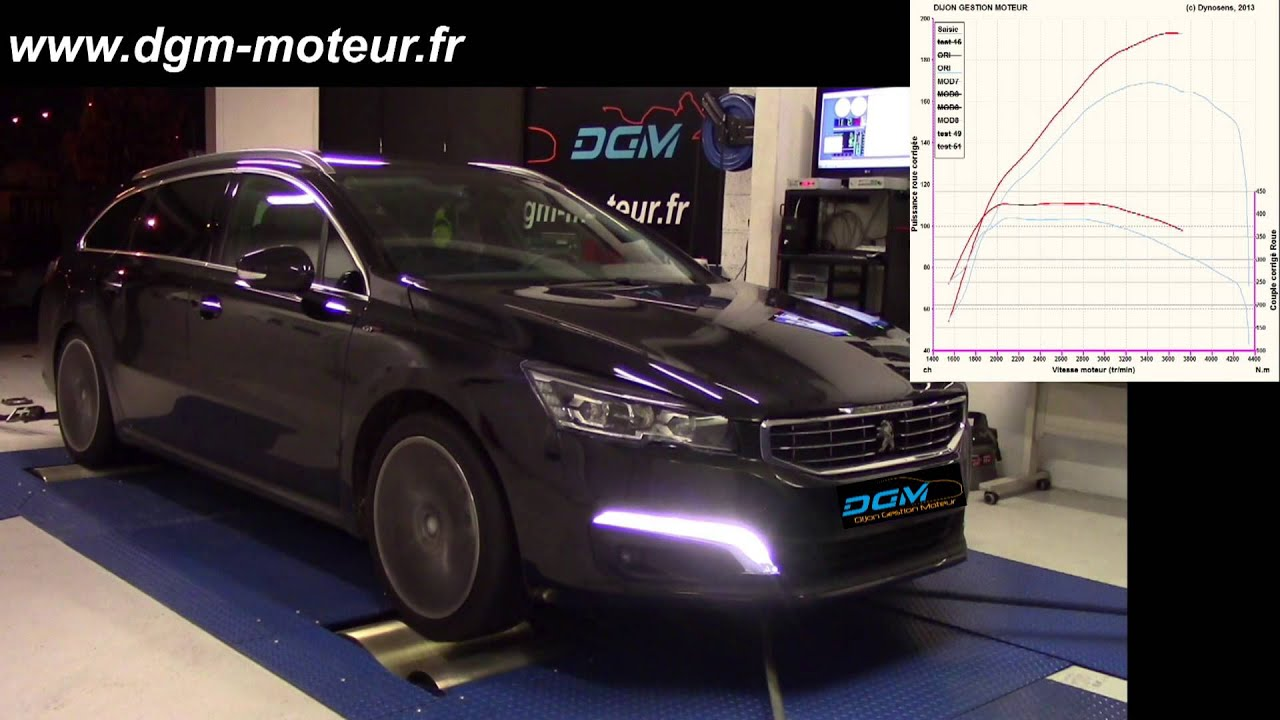 reprogrammation peugeot 508 2 2l hdi 204ch dijon gestion moteur youtube. Black Bedroom Furniture Sets. Home Design Ideas