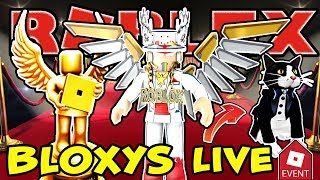 🔴 ROBLOX LIVE 🔴 6th ANNUAL BLOXY AWARDS LIVE, ALSO GET THE TUXEDO CAT WHEN YOU JOIN ME IN SERVER